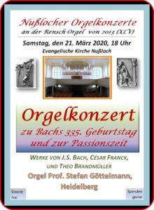 45. Orgelkonzert 21.3.2020