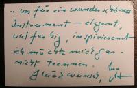 Textbild: Orgelfreunde - Notiz