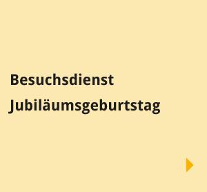 Navigationsbilder: Übersichtsseite – Begegnungen – Besuchsdienste Jubiläumsgeburtstag